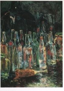 Floris Verster (1861-1927) -Stilleven met flessen, 1892- Postkaart