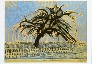 Mondriaan (1872-1944)Mondrian -De blauwe boom, 1908/09?- Postkaart