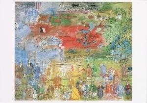 Raoul Dufy (1877-1953) -R.Dufy/The Allegory of Electri- Postkaart