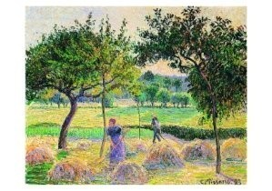 Camille Pissarro (1830-1903) -Bountiful Harvest- Postkaart