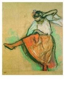 Edgar Degas (1834-1917) -Russian Dancer- Postkaart