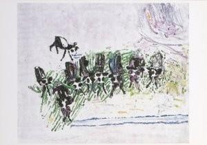 Job Hansen (1899-1960) -Negen kalveren, 1953- Postkaart