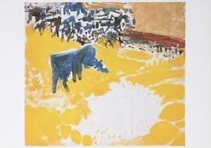 Job Hansen (1899-1960) -Langs koe in zonnige wei, 1957- Postkaart