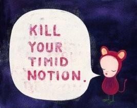 Yoshitomo Nara (1959) -Kill your Timid Notion- Postkaart