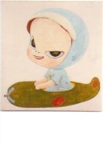 Yoshitomo Nara (1959) -Pancake Kamikaze.- Postkaart