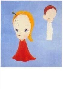 Yoshitomo Nara (1959) -Rain, Rain, Go away- Postkaart