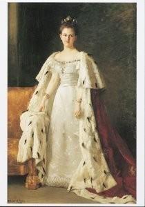Therese Schwartze (1851-1918) -inhuldigingsporret Kongin Wilhelmina- Postkaart
