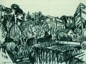 Jaap Min (1914-1987) -Huize Kranenburg- Postkaart