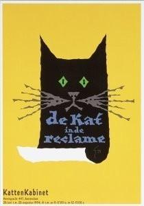 Gielijn Escher (1945) -Exhibition of Advertising Art with Cats, 1992- Postkaart