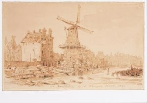 Pieter van Loon (1801-1873) -P.v.Loon/Weesperprt.A'dam/Loon- Postkaart