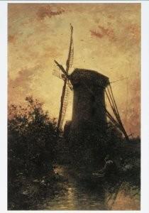 Johan B. Jongkind (1819-1891) -J.B.Jongkind/Molen a.h. water- Postkaart