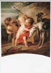 Jacob de Wit (1696-1754) -J.de Wit/Allegorie op de jacht- Postkaart