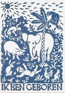 Eddy Varekamp (1949) -Ik ben geboren met veel wilde beesten- Postkaart