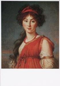 Marie Louise E. Vigee-Lebrun -M.L.E.Vigée-Lebrun/Varvara- Postkaart