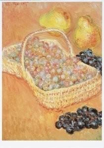Claude Monet (1840-1926) -Basket of Grapes- Postkaart