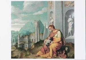Giovanni Battista Moroni (1520-St. Agnes- Postkaart
