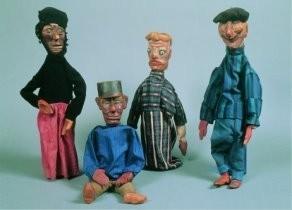 Piet Wiegman (1885-1963) -Poppenkastpoppen- Postkaart
