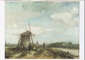 Johan B. Jongkind (1819-1891) -Jaagpad aan de Trekvliet bij Den Haag, 1859- Postkaart