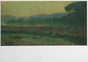 Leo Gestel (1881-1941) -Vallei met geboomte - Wooded valley, ca. 1910- Postkaart