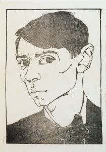 Jan Mankes (1889-1920) -J.Mankes/Zelfportret/RT- Postkaart