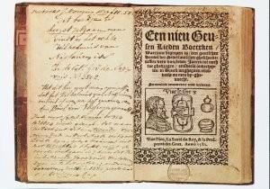 Anoniem -Geuzenliedboek, titelpagina, Een nieu Geusen liede- Postkaart