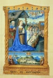 Jean Fouquet (ca.1420-1477/81)-Geboorte van Christus- Postkaart