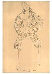 Gustav Klimt (1862-1918) -Staying woman - frontalview- Postkaart