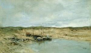 Anton Mauve (1838-1888) -Afzanderij Scheveningen- Postkaart