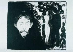 Edvard Munch (1863-1944) -Jaloezie II- Postkaart