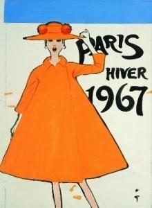 René Gruau (1909-2004) -paris hiver- Postkaart