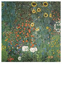 Gustav Klimt (1862-1918) -Bauerngarten mit Sonnenblumen, 1907- Postkaart