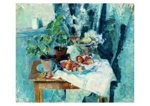 Friso H. ten Holt (1921-1997) -Stilleven met bloemen- Postkaart