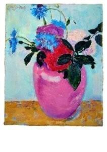 Jan Sluijters (1881-1957) -Stilleven met roz- Postkaart