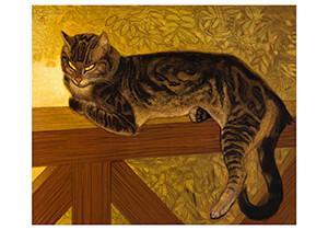 Theophile-Alexandre Steinlen -Summer, cat on a balustrade, 1909- Postkaart