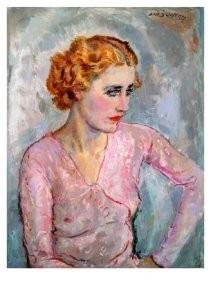 Jan Sluijters (1881-1957) -Jonge vrouw met- Postkaart