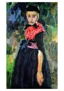 Jan Sluijters (1881-1957) -Staphorster meisje, ca. 1915- Postkaart