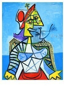 Pablo Picasso (1881-1973) -Femme a l'oiseau- Postkaart