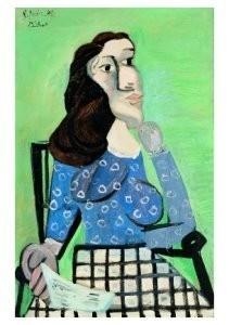 Pablo Picasso (1881-1973) -Femme dans un faute- Postkaart