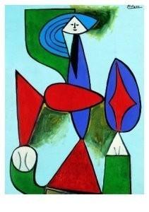 Pablo Picasso (1881-1973) -Femme assise dans- Postkaart