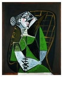 Pablo Picasso (1881-1973) -Femme au chignon- Postkaart