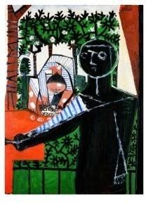 Pablo Picasso (1881-1973) -Devant le jardin- Postkaart
