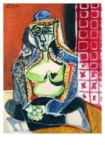 Pablo Picasso (1881-1973) -Femme accroupie au- Postkaart