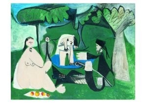 Pablo Picasso (1881-1973) -Le dTjeuner sur- Postkaart