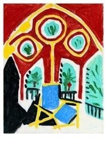 Pablo Picasso (1881-1973) -La fenOtre de l'ate- Postkaart