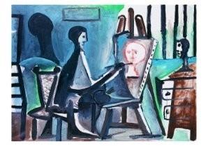 Pablo Picasso (1881-1973) -Le peintre- Postkaart
