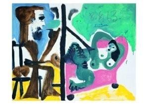 Pablo Picasso (1881-1973) -Le peintre et son- Postkaart