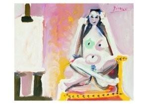 Pablo Picasso (1881-1973) -ModFle dans l'ateli- Postkaart