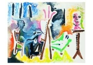 Pablo Picasso (1881-1973) -Le peintre et son m- Postkaart