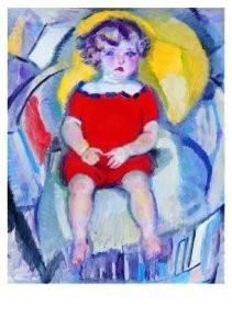 Jan Sluijters (1881-1957) -Dochtertje van de kunstenaar, Artists daughter- Postkaart