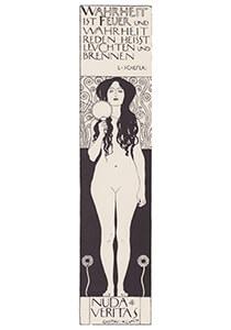 Gustav Klimt (1862-1918) -Nuda veritas, 1902- Postkaart